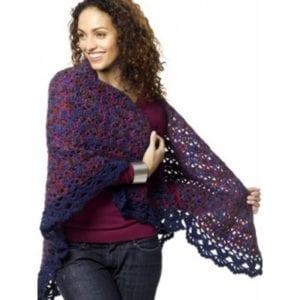 Crochet Harlequin Shawl