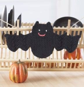 Crochet Bat Dishcloth