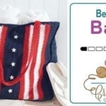 Crochet American Beach Bag