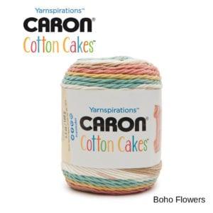 Caron Cotton Cakes: Boho Flowers
