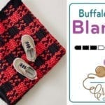 Crochet Buffalo Plaid Babes Toddler Blanket