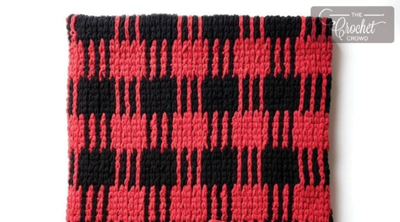 Crochet Buffalo Plaid Blanket + Tutorial | The Crochet Crowd