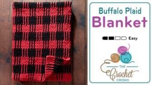 Crochet Buffalo Plaid Blanket