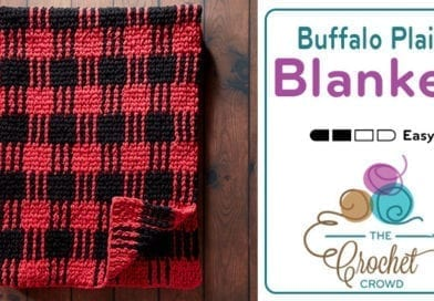 Crochet Buffalo Plaid Blanket + Tutorial