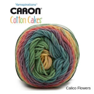 Caron Cotton Cakes: Calico Flowers