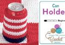 Crochet American Pop Can Cozy
