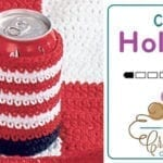 Crochet American Pop Can Cozy