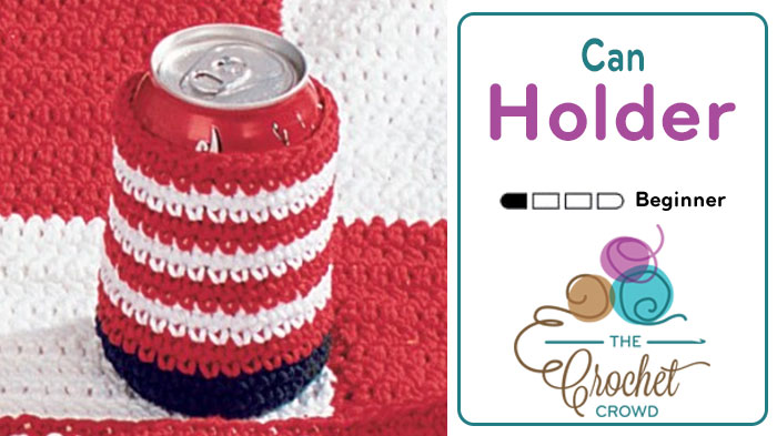 Crochet American Pop Can Cozy Pattern