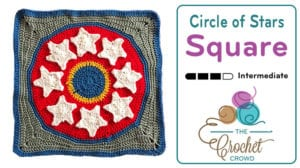 Crochet Circle of Stars, aka Wonder SquareCrochet Circle of Stars, aka Wonder Square