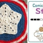 Crochet Comic Large Stars Motif + Tutorial