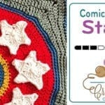 Crochet Comic Small Stars Motif + Tutorial