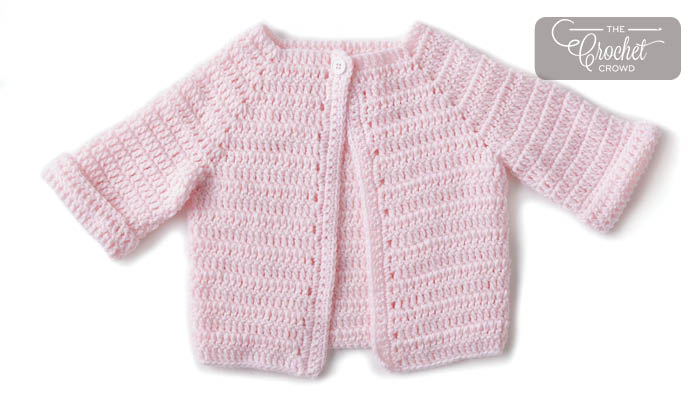 Crochet Easy Baby Jacket Pattern + Tutorial