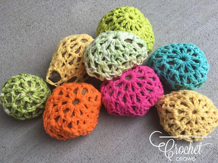Crocheted Rocks by Jeanne Steinhilber