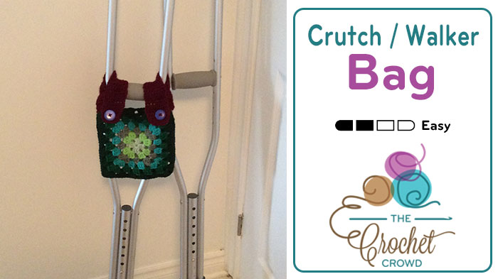 Crochet Crutch / Walker Bag