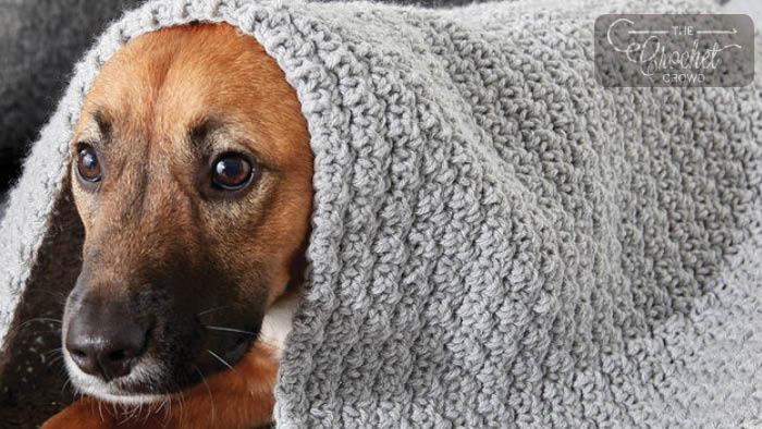 Crochet Doggy Comfort Blanket Pattern