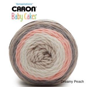 Caron Baby Cakes: Dreamy Peach