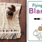 Crochet Flying Geese Baby Blanket + Tutorial