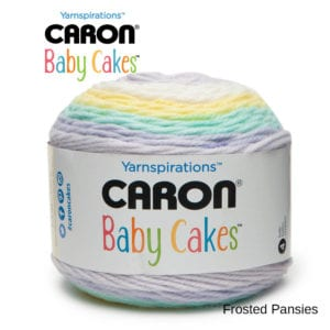 Caron Baby Cakes: Frosted Pansies