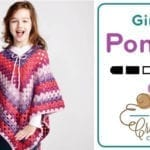 Crochet Girl's Poncho 8 -10 Years Old with Adult Substitution Instructions + Tutorials