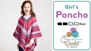Girl's Crochet Poncho - 8-10 Years of Age