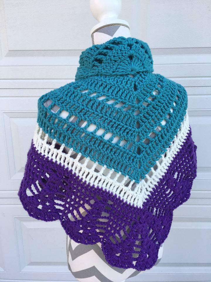 Crochet Comfort Shawl, Crocheted by Jeanne