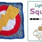 Crochet Lightning Action Square + Tutorial