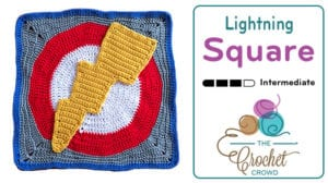 Crochet Lightning Square