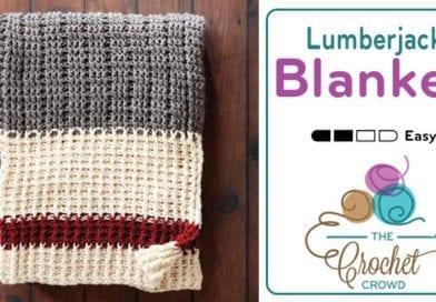 Crochet Lumberjack Blanket + Tutorial