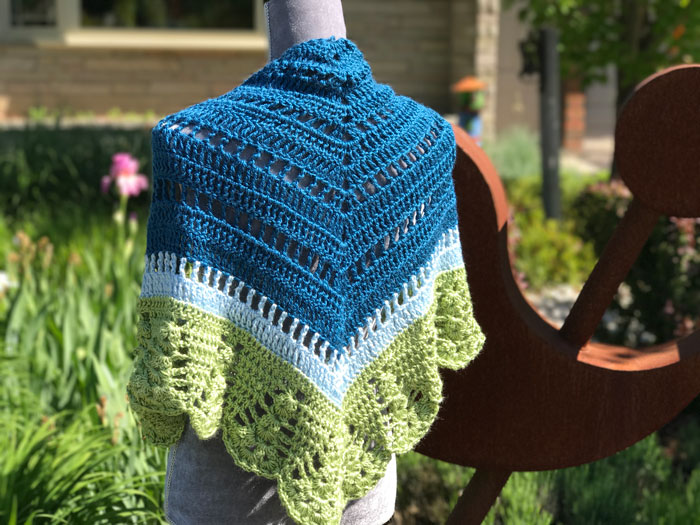 Crochet Comfort Shawl, Crocheted by Mikey