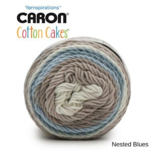 Caron Cotton Cakes: Nested Blues