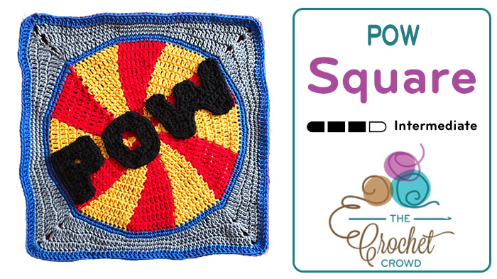 Crochet Pow Action Tapestry Square