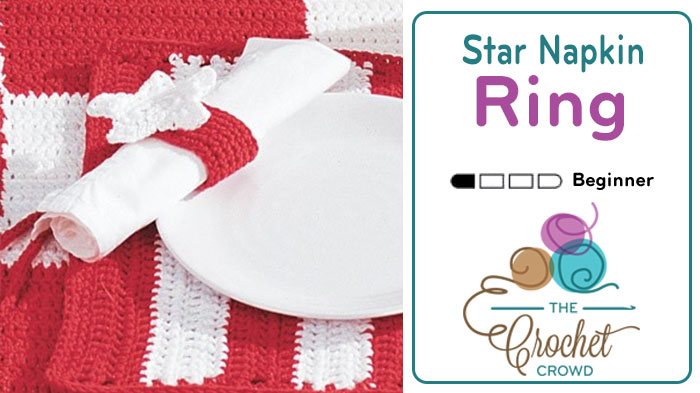 Crochet Star Napkin Ring Pattern