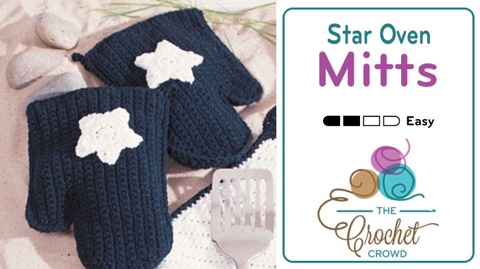 Crochet Star Oven Mitts