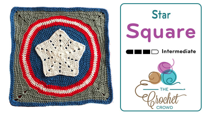Crochet Star Action Square + Tutorial