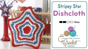 Crochet American Star Dishcloth