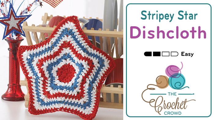 Crochet American Star Dishcloth
