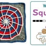 Crochet Web Square + Tutorial