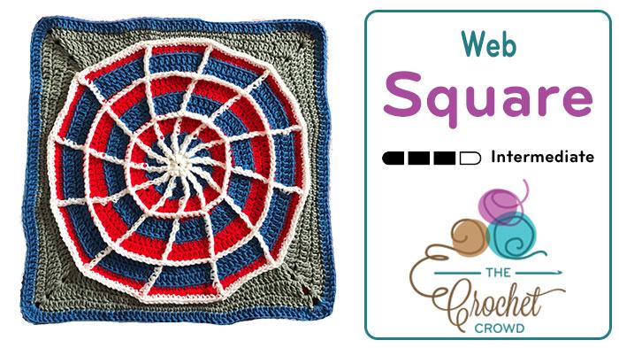 Crochet Web Square + Tutorial