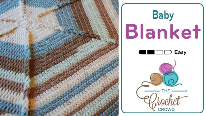 Crochet Hexagon Baby Blanket + Tutorial