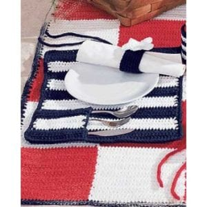 Crochet Roll & Go Placemats