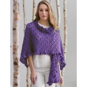 Crochet Ruffle Edge Shawl