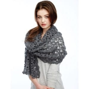 Crochet Shine Like Diamonds Shawl
