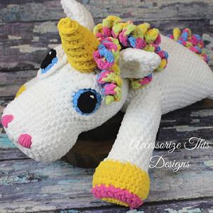 Rainbow Cuddles Crochet Unicorn Pattern - One Dog Woof | 300x300