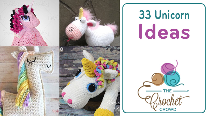 33 Crochet Unicorn Patterns | The Crochet Crowd