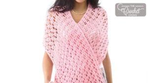 Crochet Pink Ribbon Shawl