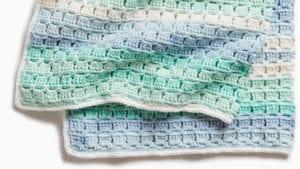 Crochet Tiles for Miles Baby Blanket