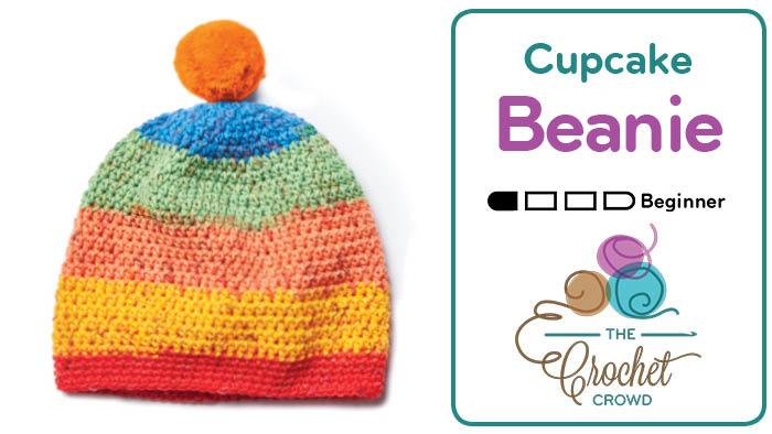 Crochet Cupcake Beanie Hat