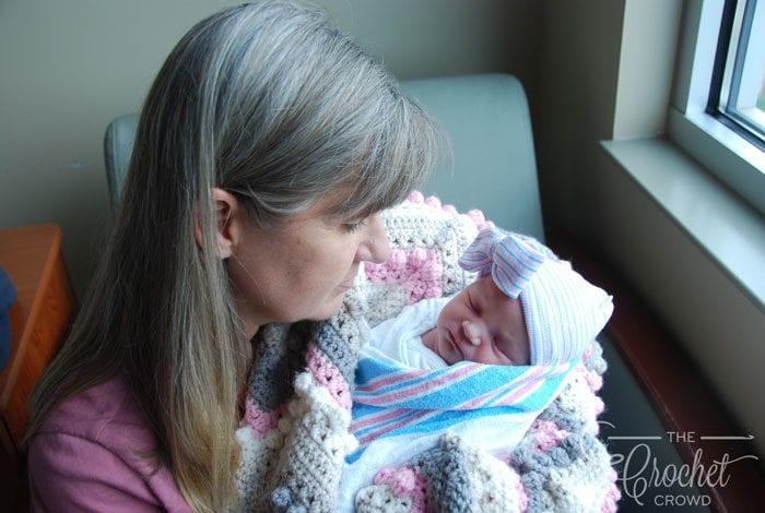 Crochet Hugs & Kisses Baby Blanket by Jeanne Steinhilber
