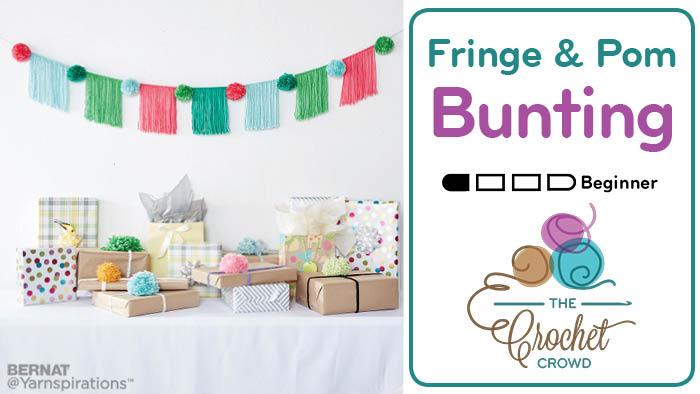 Fringe & Pompom Bunting Pattern