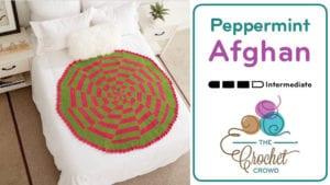 Crochet Peppermint Pinwheel Afghan